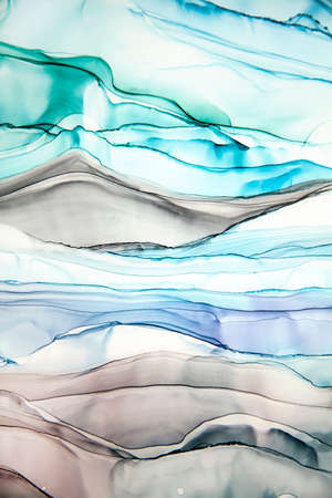 Abstract alcohol ink art drawing background stripes