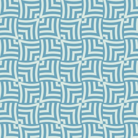 turqoise: geometric braided traditional scale seamless pattern