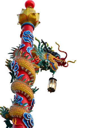 find similar images: Save to a Lightbox  Find Similar Images  ShareChinese dragon statue isolated on the white backgroun