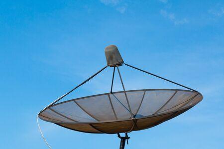 satelite: Satellite dish on the roof Stock Photo