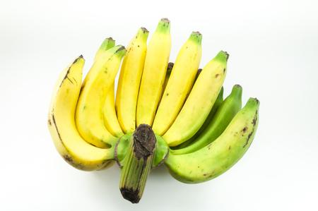 raw banana on white background Stock Photo