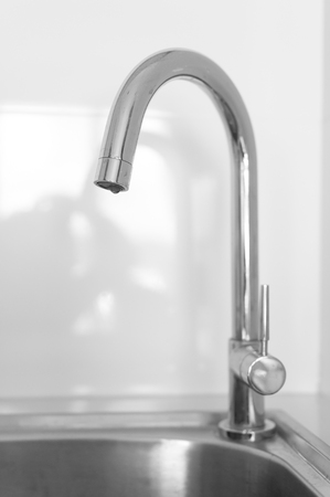 sinks: Stainless steel sink with Water faucet