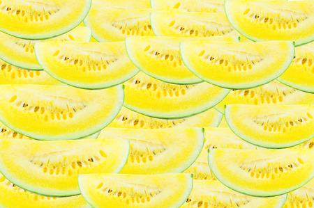 Slice Fresh watermelon Yellow for background, pattern of Yellow watermelon