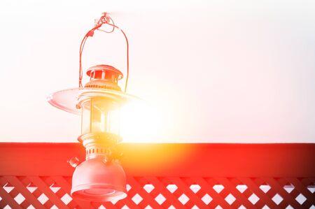 Vintage kerosene lamp,Gasoline lamps-mantled gasoline lantern,Kerosene lamps decor Stock Photo