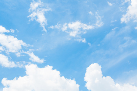Blue sky with cloud with background daylight, natural sky composition, element of design ,Cloudy blue sky abstract background