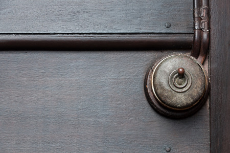bakelite: Vintage put light switch on wooden interior wall Stock Photo