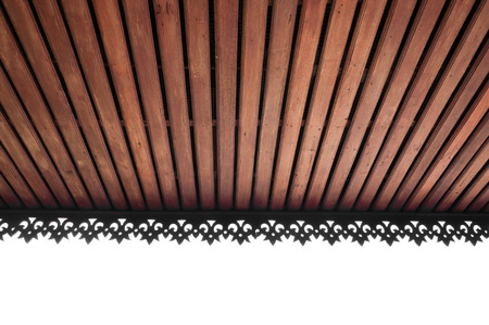 golden rule: wooden slat ceiling with exposed beams,wooden ceiling roof,lanna Thailand architecture style