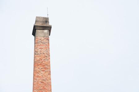 smokestack: Ancient brick smokestack ,Industrial tower Stock Photo
