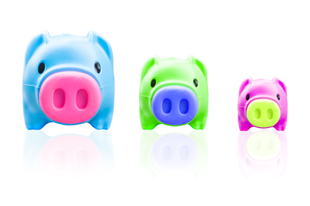 Piggy bank isolated on white background, finance theme Stock Photo