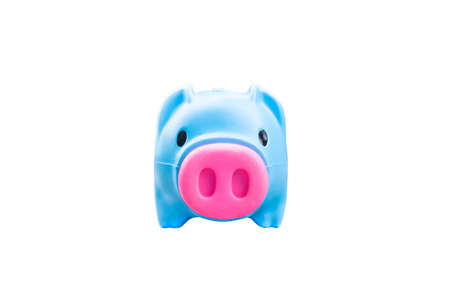 account executive: Piggy bank isolated on white background, finance theme Stock Photo