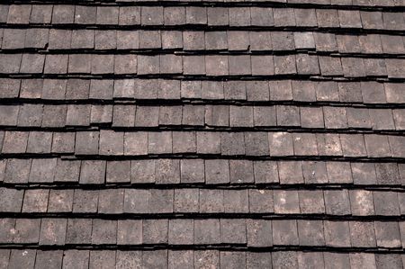 rooftile: Old roof tiles texture background ,Retro for background