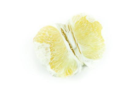 Closeup fresh pomelo on white background Stock Photo