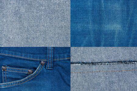 jean background ,Blue denim jeans texture,Textured striped jeans denim linen fabric for background Stock fotó