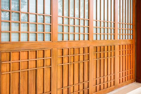 Traditional wood of japan style, texture of Japanese wood, Interior decoration Japanese style wooden house Stock fotó