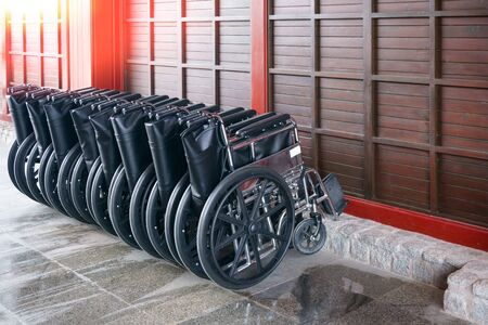 Wheelchair service for the tourist, wheelchairs ready to pick up Zdjęcie Seryjne