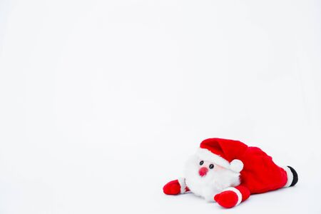 Santa claus doll on isolated on white background,Christmas decoration