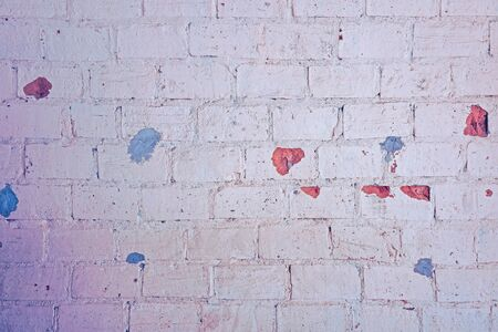 Brick texture pastel color, wall, it can be used as a background. Brick texture with scratches and cracks 写真素材