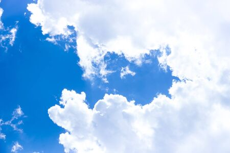 Blue sky with cloudy with background daylight, natural sky composition, element of design Stock Photo