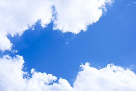 Blue sky with cloudy with background daylight, natural sky composition, element of design Stock Photo - 149692136