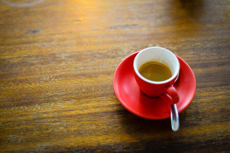 Red cup of coffee photo