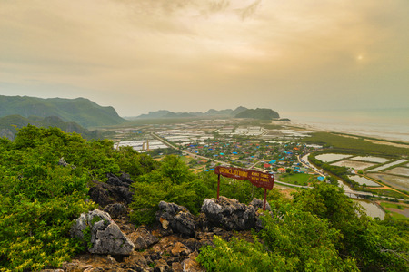 landscape viewpoint at Khao Daeng ,Sam Roi Yod national park, Prachuapkhirik han province Thailand photo