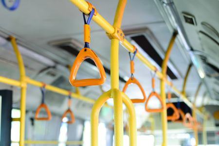 yellow bus handle photo