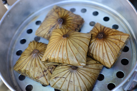 lotus leaf: Lotus Leaf Rice Wraps