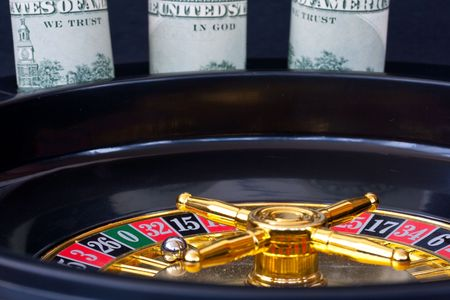 Roulette wheel with playball on 0 Stock Photo - 10963371