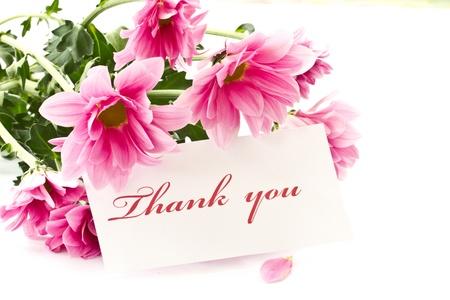 """zeggen """"dank u"""" op een achtergrond van mooie bloemen"""