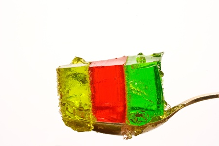 gelatine: jelly colorful closeup on white background