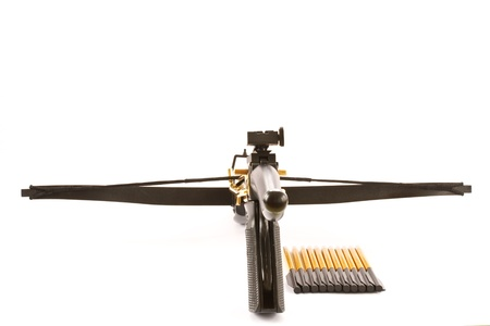 crossbow: Crossbow isolated on white background