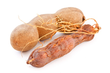 Tamarind isolated on white background photo