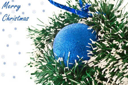 Christmas balls on white background photo