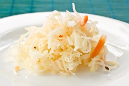 juicy cabbage sauerkraut on the plate Stock Photo - 11323190