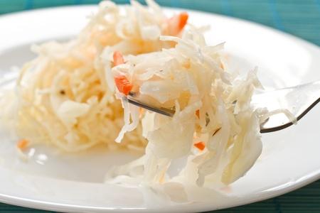 biergarten: juicy cabbage sauerkraut on the plate
