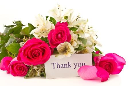 Rote Rosen und weiße Alstroemeria auf weißem Hintergrund Standard-Bild - 12805593