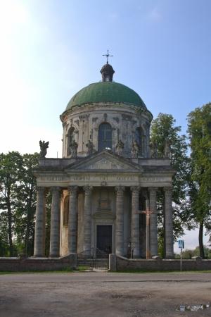 exaltation: church of the Exaltation of the Holy. Joseph, near Podgoretskii Castle in Ukraine
