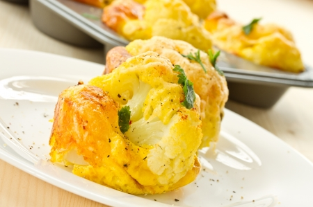 cauliflower baked in an egg and cheese photo