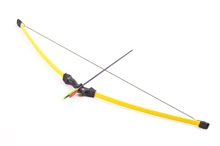 bow and arrow on a white background