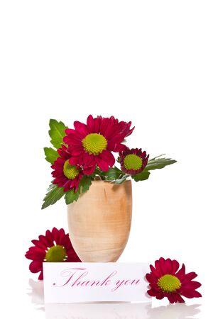 Beautiful purple chrysanthemum with a declaration of love Stock Photo - 18078709