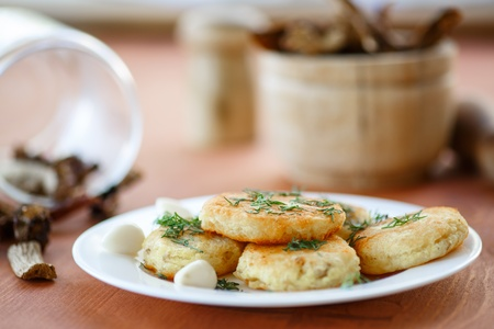 potato croquettes with garlic and dill on a plate Stock Photo - 22117832