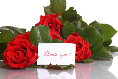 bouquet of beautiful red roses on a white background photo