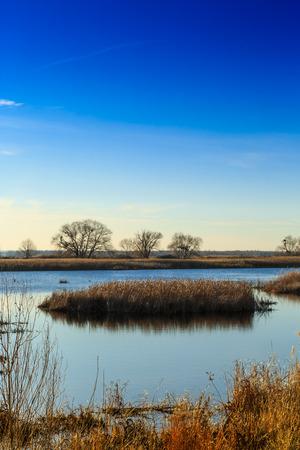 dnepr: beautiful river Dnepr in Ukraine in autumn