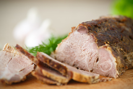 roast lamb: pork fillet baked with herbs and garlic