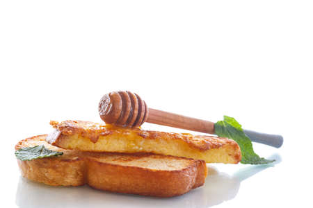 batter: sweet fried in batter toast with honey