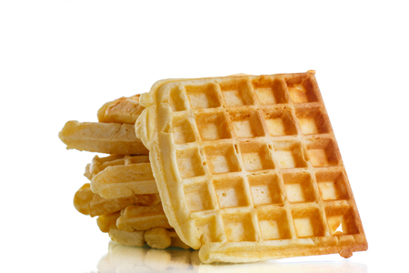 viennese: Viennese sweet waffles on a white background Stock Photo