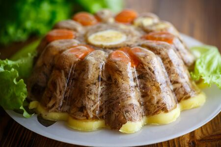 jellied meat with vegetables