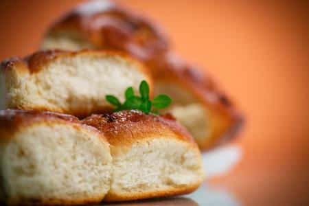 sweet rolls with raisins Stock Photo