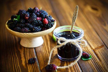 Sweet jam of black mulberry