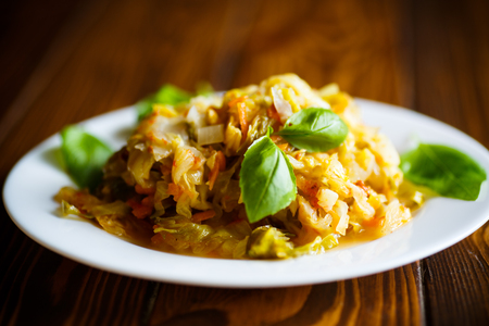 Stewed cabbage with carrots